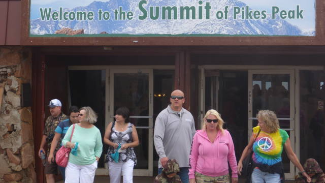 Pikes Peak tourists