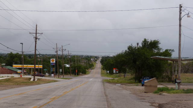 Looking south on River Road, Texas from 7116